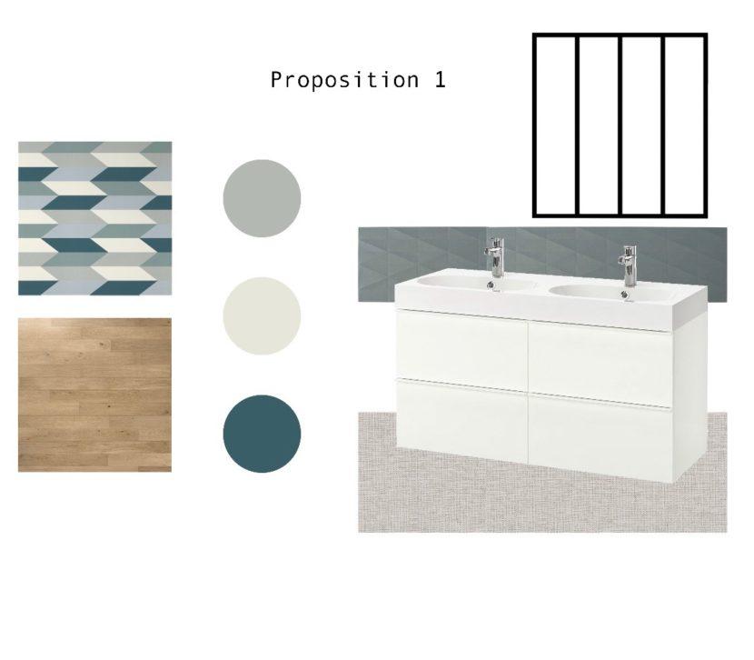 Plan d'ambiance salle de bains