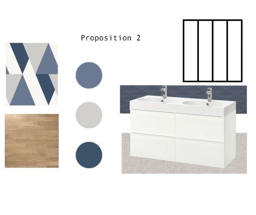 Planche mobilier - Salle de bains Versailles