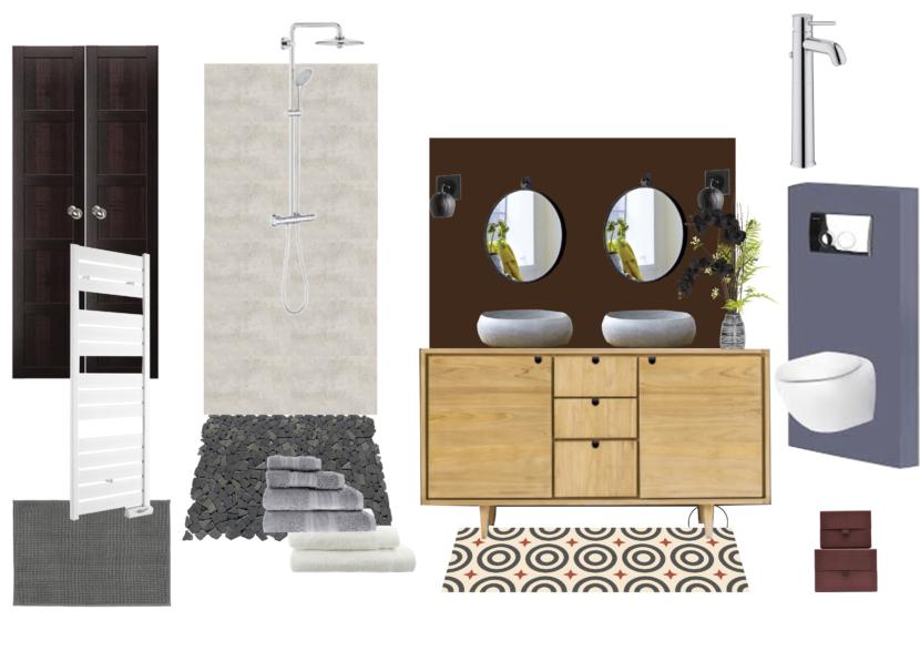 Planche mobilier - Salle de bains Paris