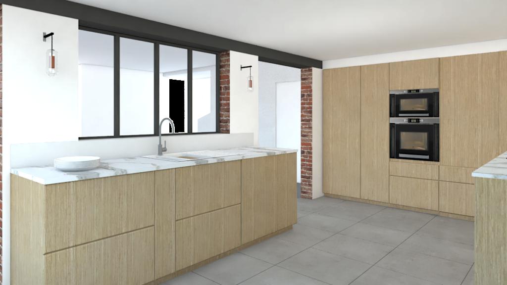 Conception d'une cuisine ouverte par Valérie Gobin Décoratrice d'intérieur