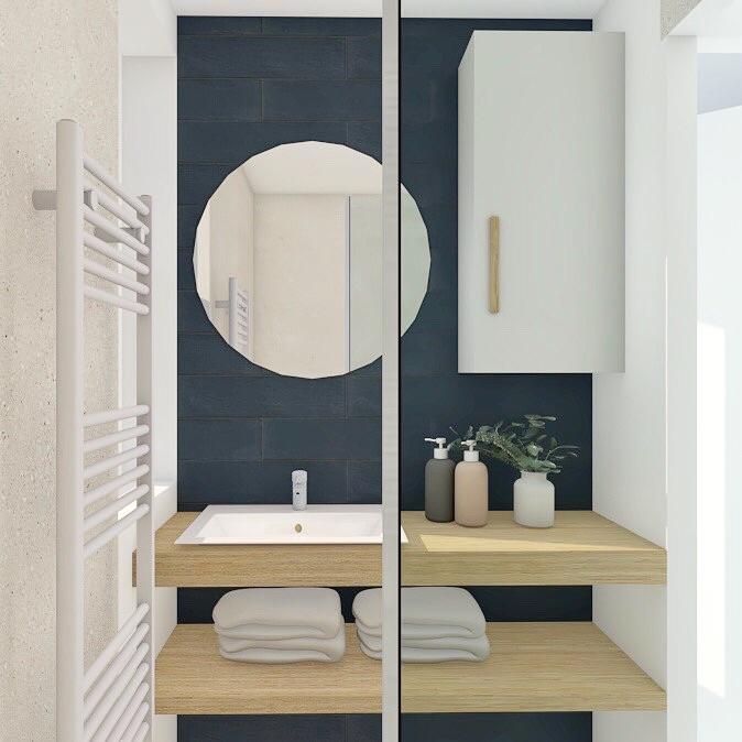 Conception en 3D d'une salle de bains par Valerie Gobin Décoratrice d'intérieur