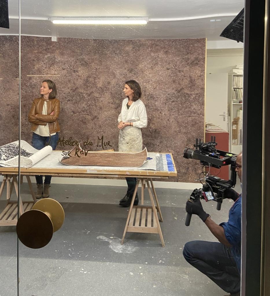 Reportage La maison France 5 Valérie Gobin et Solene Eloy Atelier du mur